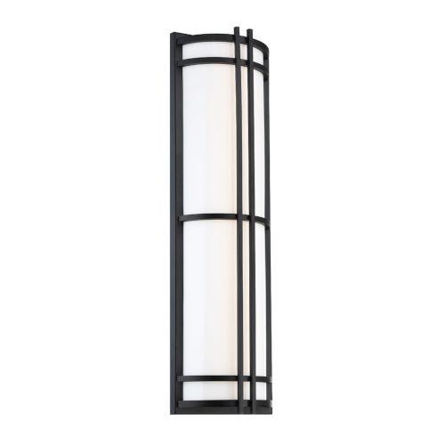 Skyscraper Black 27-Inch LED 3500K Outdoor Wall Light