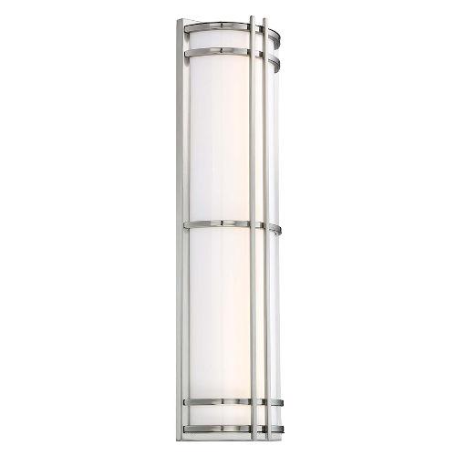 Skyscraper Stainless Steel 24W 3500K LED ADA Outdoor Wall Light