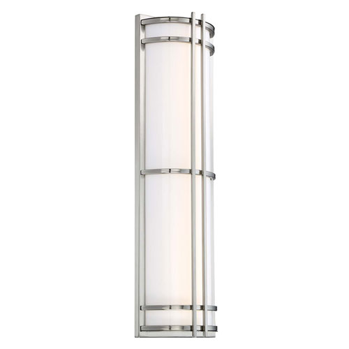Skyscraper Stainless Steel 8-Inch LED Outdoor Wall Light