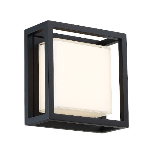 Framed Black 15W LED  Outdoor Wall Light