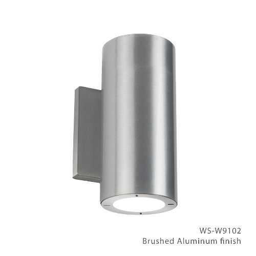 Vessel Brushed Aluminum 4-Inch 4000K Two-Light ADA Outdoor Wall Light