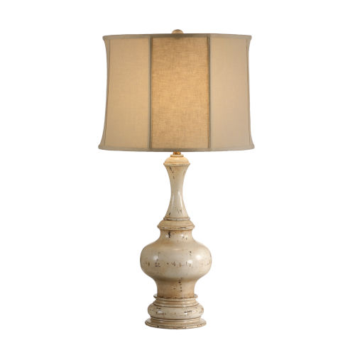 Taupe One-Light 12-Inch Turned Urn Lamp
