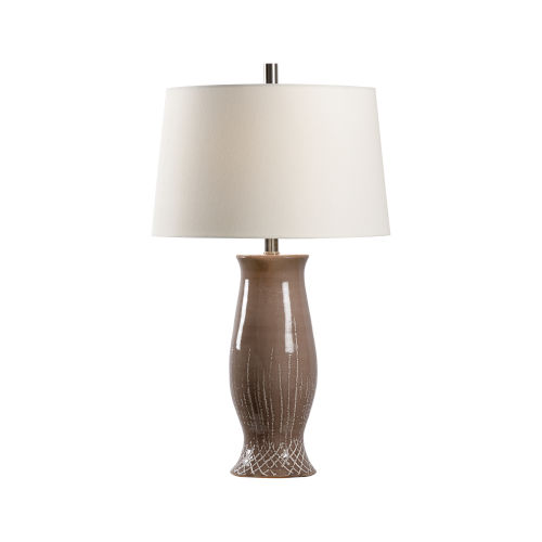 Off White and Brown One-Light 6-Inch Carmen Lamp