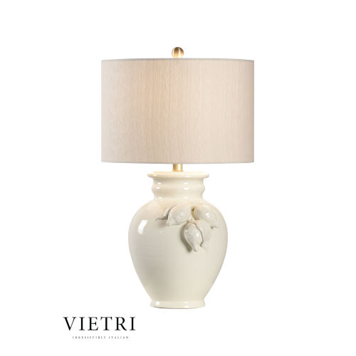 White and Cream One-Light Table Lamp