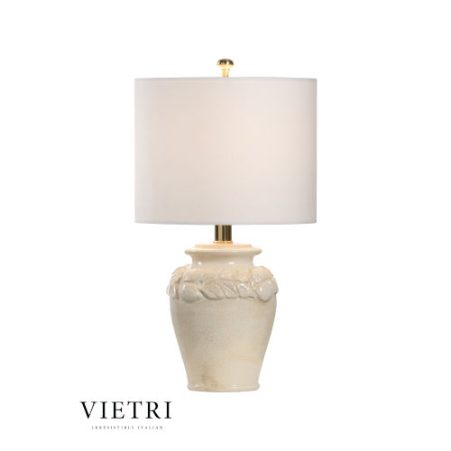 Limoni Cream and White One-Light Table Lamp