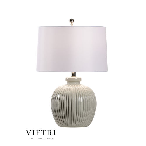 Vancouver Gray and White One-Light Table Lamp