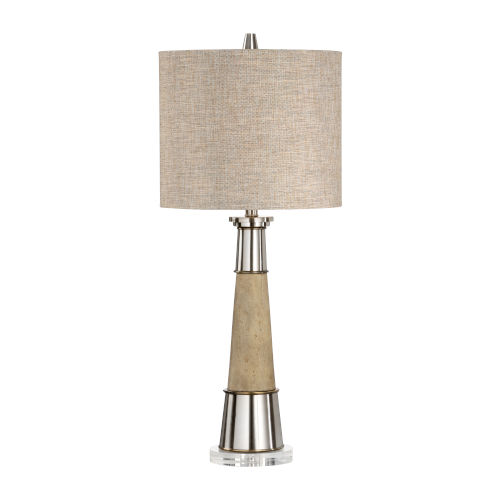 Tan and Black One-Light 9-Inch Firehorn Lamp