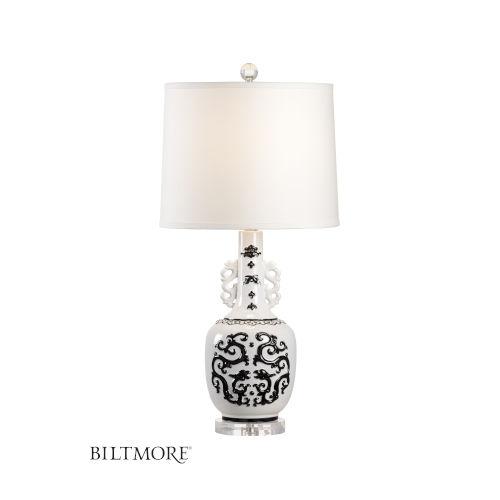 Georgine Black and White One-Light Table Lamp