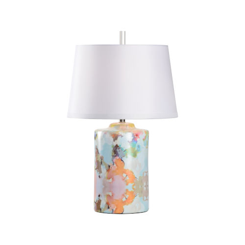 White and Orange One-Light 9-Inch Under the Sea I Lamp