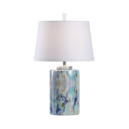 Multicolor One-Light 9-Inch Wintergreen Cylinder Lamp