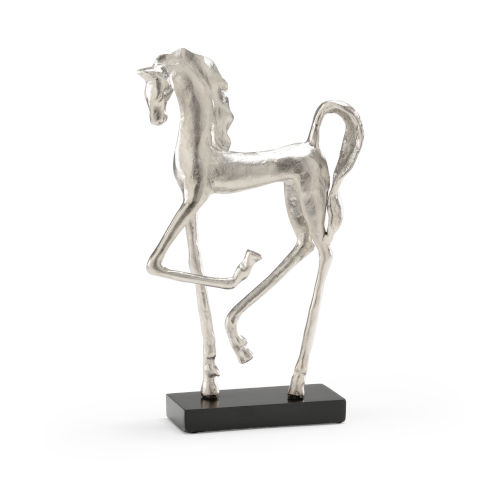 Silver 8-Inch Prancing Horse