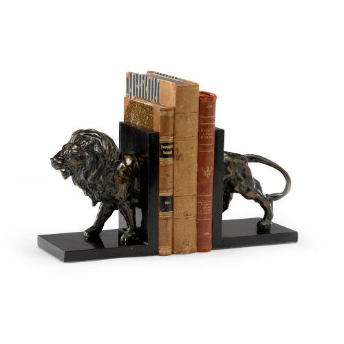 Black 5-Inch Lioncrest Bookends, Pair