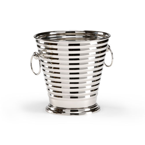 Silver 12-Inch Handled Wine Cooler