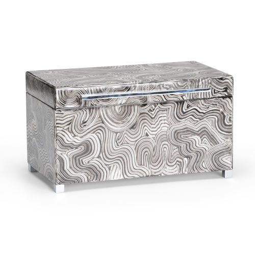 Silver 14-Inch Footed Box