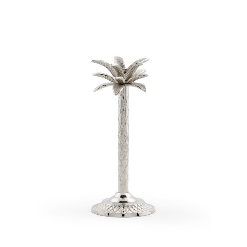Silver 5-Inch Palm Candlestick