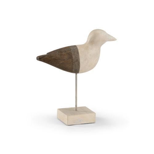 Brown and White 12-Inch Small Shorebird
