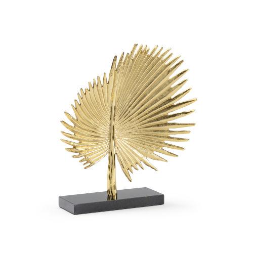 Gold 14-Inch Fan Palm