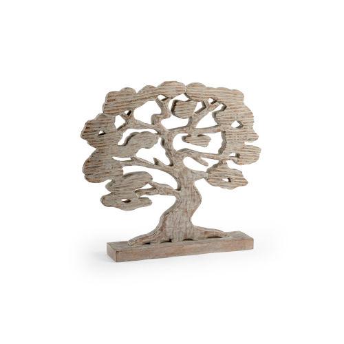 Beige 22-Inch Tree Silhouette