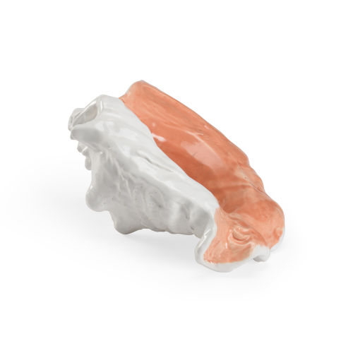 White and Orange 11-Inch Captiva Shell