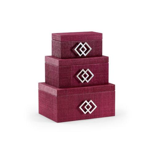 Purple 14-Inch Kure Boxes, Set of 3