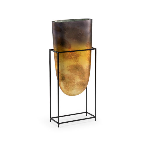 Black and Gold 10-Inch Arvada Vase