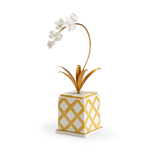 Bradshaw Orrell Gold Square Flower Accent
