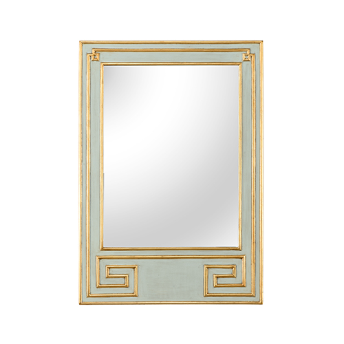 Chelsea House Bradshaw Orrell Mint Green and Gold Greek Hall Mirror