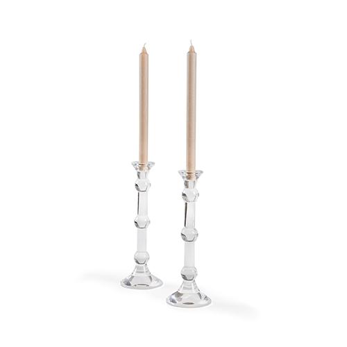 Bradshaw Orrell Clear Gleason Candlesticks- Pair