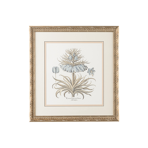 Chelsea House Silver Besler Botanical in Blue I Print
