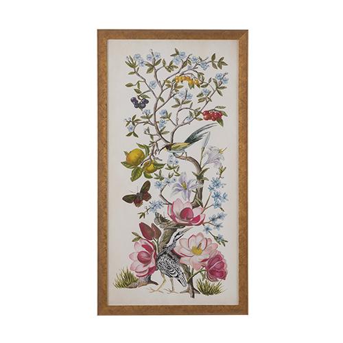 Gold Chinoiserie Natura II Print