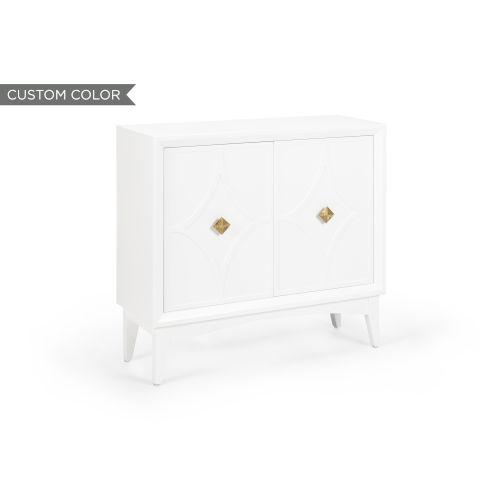 White 38-Inch Diamond Cabinet