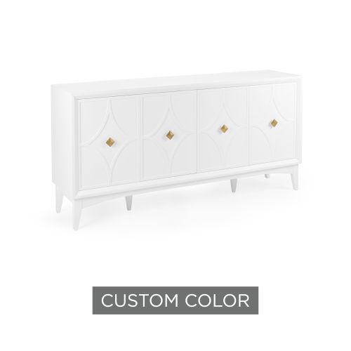 White 72-Inch Diamond Sideboard