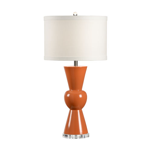 Orange and Cream One-Light 11-Inch Mildred Lamp