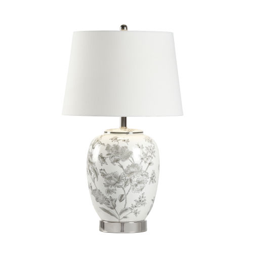 Off White One-Light 7-Inch Mabel Lamp