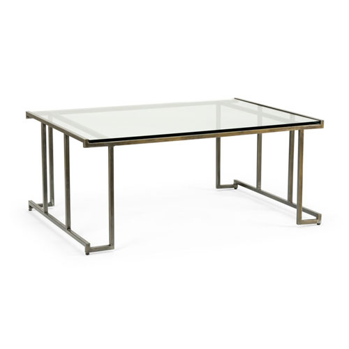 Bronze and Antique Silver 48-Inch Benson Cocktail Table