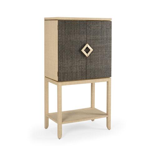 Gray 34-Inch Barcley Bar Cabinet