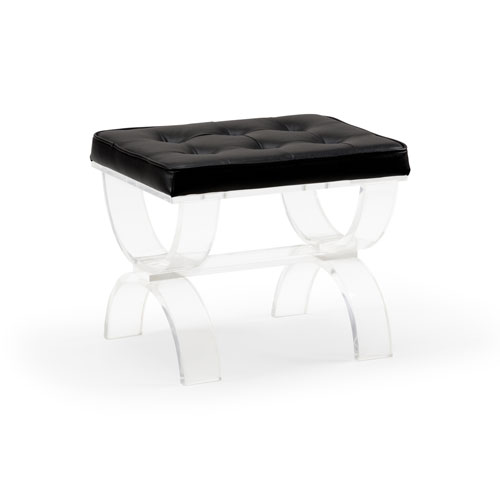 White and Black 22-Inch Harlow Bench