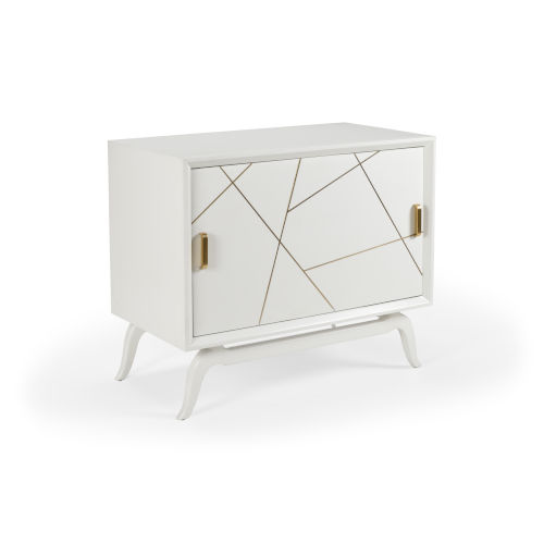 White 42-Inch Sinatra Drinks Cabinet