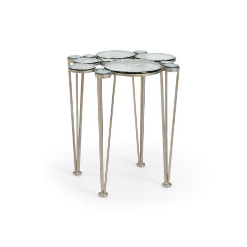 Silver 23-Inch Bubblicious Table