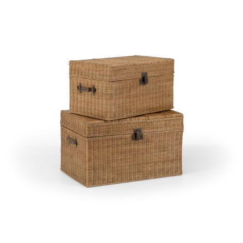 Wood 35-Inch Vynyard Trunk, Set of 2