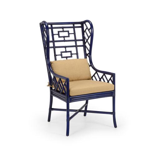 Blue 47-Inch Gwyneth Wing Chair