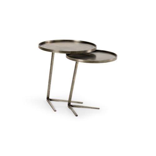 Brown 21-Inch Layers Accent Tables, Set of 2