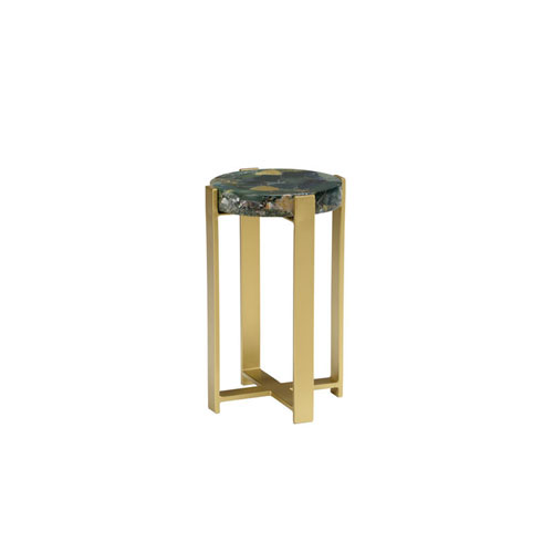 Gold 13-Inch Small Jasper Accent Table