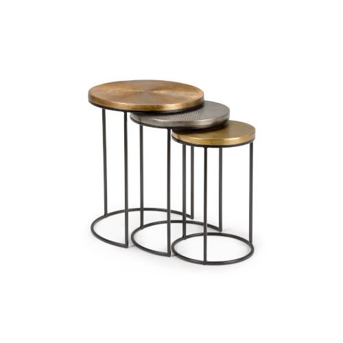Bronze 19-Inch Manitou Springs Nesting Table, Set of 3