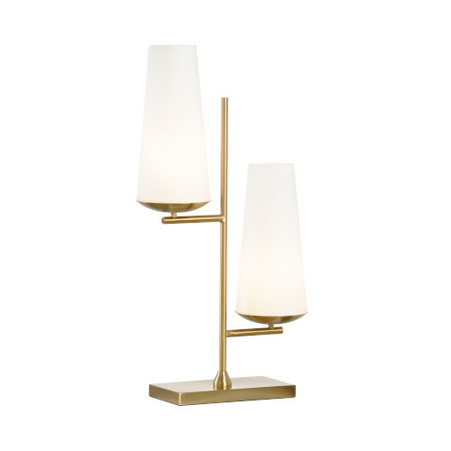 Gold Two-Light 11-Inch Geminate Lamp