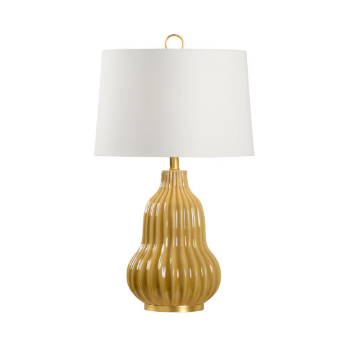 Off White and Gold One-Light 6-Inch Oliver Lamp