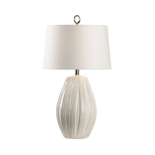 Off White One-Light 6-Inch Borghese Lamp