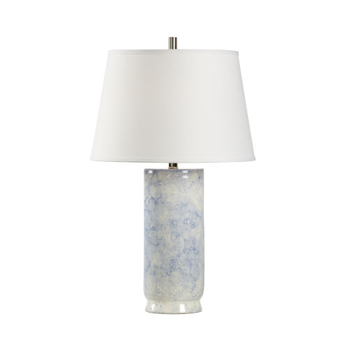 White and Blue One-Light 6-Inch Bolle Lamp