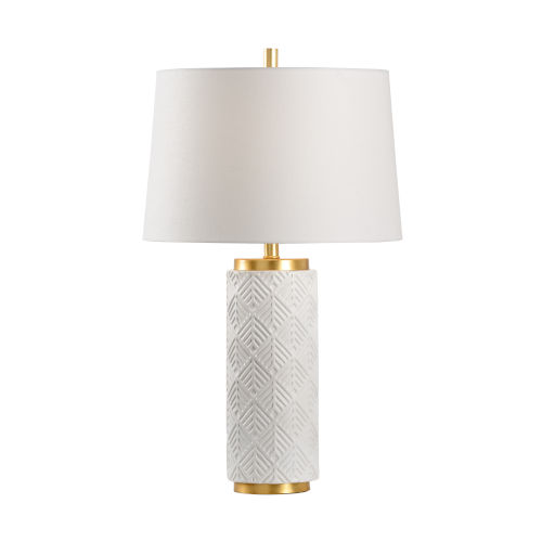 Off White One-Light 6-Inch Mountain Pine Lamp