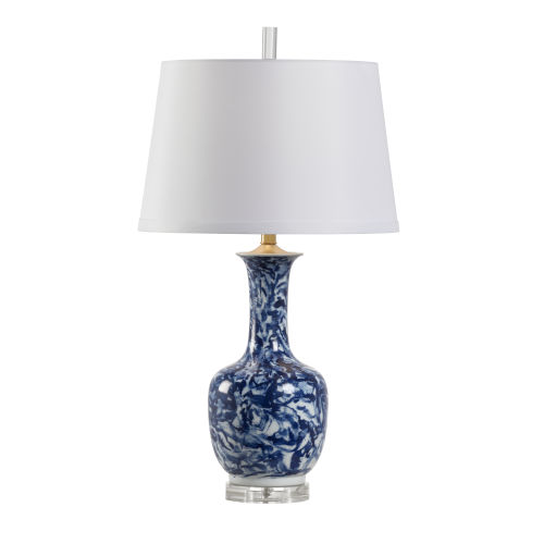 Blue and White One-Light 6-Inch Belle Lamp